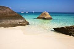Similan öar, Thailand, Phuket. Arkivfoton