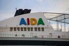 Härliga skepp och kryssningeyeliner Fotografering för Bildbyråer