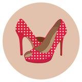 Härliga skor på vit Royaltyfri Bild