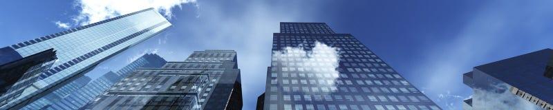 Härliga skyskrapor Arkivbilder