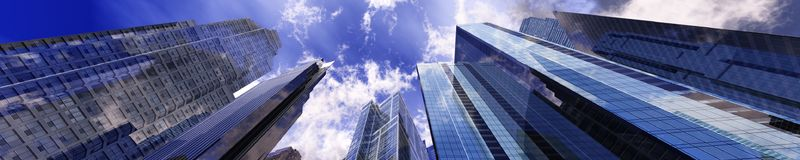 Härliga skyskrapor Arkivbild