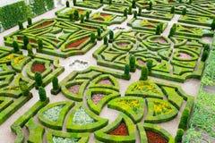 Härliga slottträdgårdar av Villandry i Loiren Frankrike Royaltyfri Fotografi