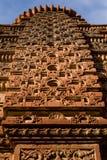 Härliga sned forntida Jain tempel som konstrueras i den 6th århundradeANNONSEN i Osian, Indien Arkivbilder