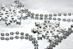 härliga snowflakes Arkivbilder