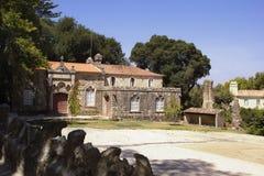 Härliga ställen i Quinta da Regaleira Sommarlopp i Portugal Arkivbilder