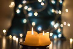 Härliga stearinljus closeup Royaltyfri Bild