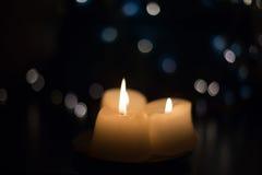 Härliga stearinljus closeup Royaltyfria Foton