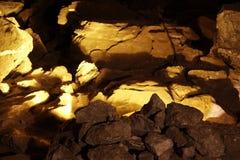 härliga stenar för grottaiskungur Royaltyfria Bilder