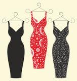 Härliga stilfulla klänningar för kvinnor Royaltyfria Bilder