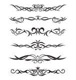 Härliga stiliserade tatueringar och prydnad Royaltyfri Foto