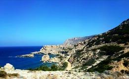 Härliga stränder av Lefkos, Karpathos ö, Grekland 01 arkivfoton