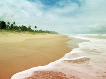 Härliga stränder i Imbassai arkivfoton