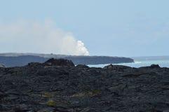 Härliga svarta Lava Rocks Royaltyfri Foto