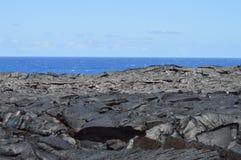 Härliga svarta Lava Rocks Royaltyfri Fotografi