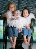 härliga systrar tre Fotografering för Bildbyråer
