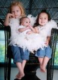 härliga systrar tre Arkivbild