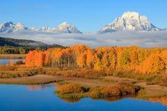 Härliga Teton Autumn Scenic Landscape Fotografering för Bildbyråer