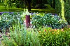 härliga trädgårdar royaltyfria foton
