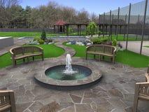 Härliga trädgårdmakeovers, 3d framför Royaltyfri Foto