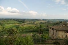 härliga tuscany Fotografering för Bildbyråer