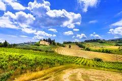 Härliga Tuscany landskap italy Royaltyfri Fotografi