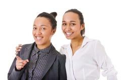 härliga två kvinnor Royaltyfri Fotografi