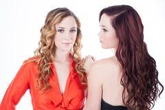 Härliga tvilling- systrar Royaltyfri Bild