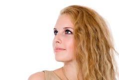 Härliga unga lyckliga blondiner royaltyfri fotografi