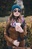 Härliga utomhus- modeflickor Royaltyfri Fotografi