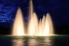 Härliga utomhus- springbrunnar Royaltyfria Bilder