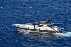 Härliga utvändiga Borda i det Aegean havet Transport sport royaltyfri fotografi