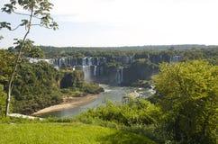 härliga vattenfall för unesco för fallsiguazulokal Arkivbild