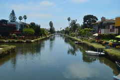 Härliga Venedig strandkanaler Juli 04, 2017 Lopplandskapferier Royaltyfria Foton