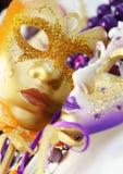 Härliga Venetian karnevalmaskeringar Royaltyfria Bilder