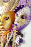 Härliga Venetian karnevalmaskeringar Royaltyfri Fotografi