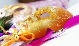 Härliga Venetian karnevalmaskeringar Royaltyfri Foto