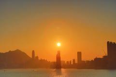 Härliga Victoria Harbor i Hong Kong Arkivbilder