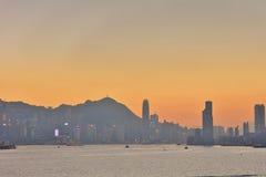 Härliga Victoria Harbor i Hong Kong Royaltyfri Fotografi