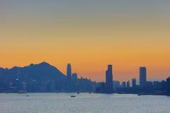 Härliga Victoria Harbor i Hong Kong Royaltyfria Bilder