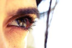 härligt öga Fotografering för Bildbyråer