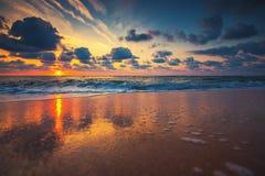härligt över havssoluppgång Royaltyfria Bilder