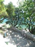 Härligt Adriatiskt hav Arkivbilder