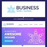 Härligt affärsidémärkesnamnlag, grupp, ledarskap, b vektor illustrationer