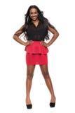 Härligt afrikanskt posera för flicka Royaltyfri Bild