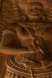 Härligt Apsara snida Arkivbild