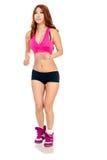 Härligt asiatiskt jogga för kvinna Royaltyfria Bilder