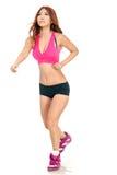 Härligt asiatiskt jogga för kvinna Arkivbilder