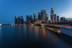 Härligt av stadsscape av singapore Arkivbild