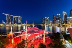 Härligt av stadsscape av singapore Arkivfoto