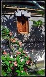 Härligt Balinesefönster Arkivbild